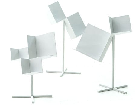 460Float stool and Corners 3 sided cube box by Nendo