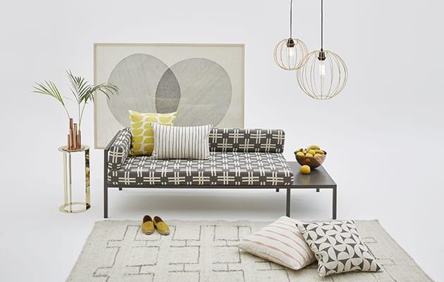Skinny laMinx Weft concrete LIM sofa