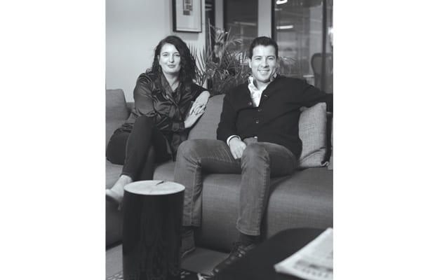 Katrina Larkin and Enrico Sanna
