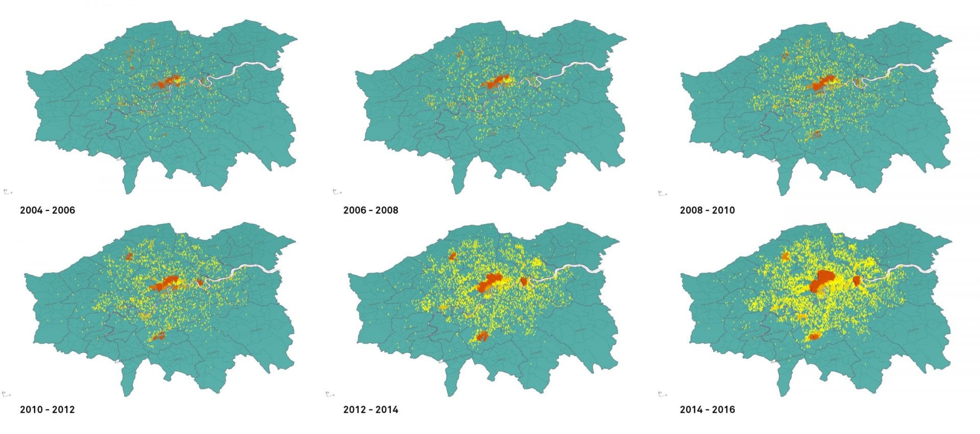 Map of clusters in London